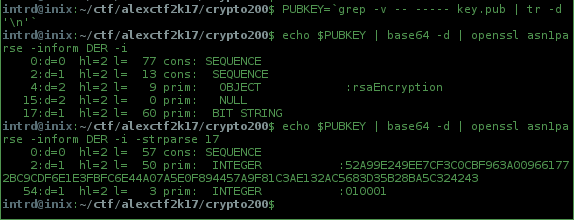 openssl rsa public key modulus